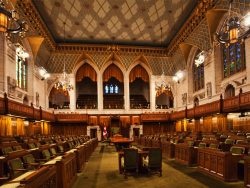 Interior view of the Canada Commons of Parliament