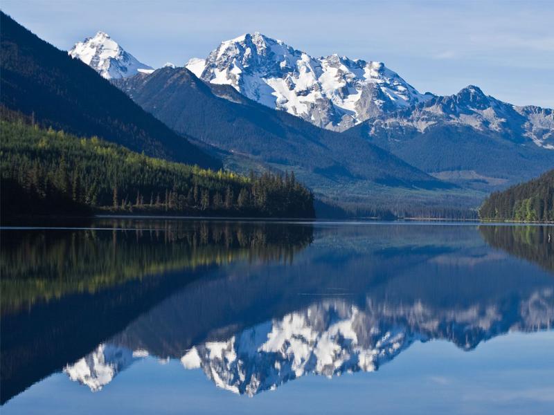 Mountain Range in British Columbia`