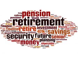 Retirement word cloud concept Vector illustration