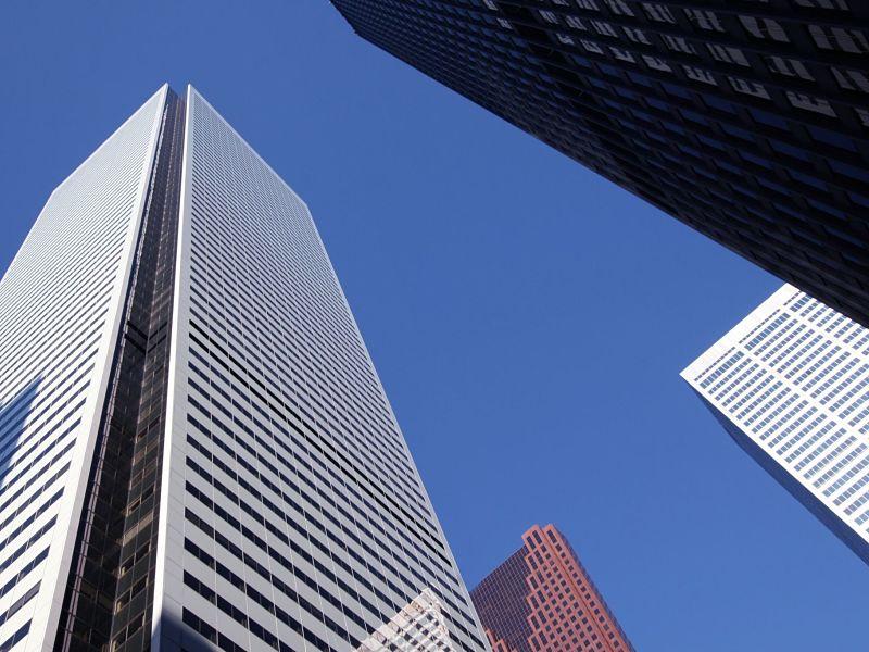 Bank skyscrapers in downtown Toronto