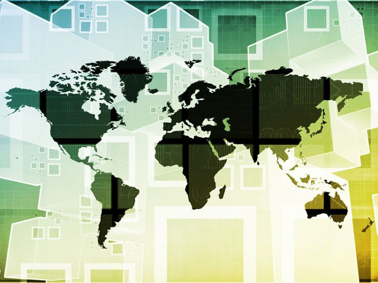 world map, emerging markets and international global businesses